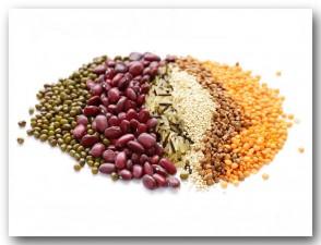 Hülsenfrüchte + Reis