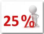 bis 25% Rabatt