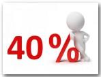 bis 40% Rabatt