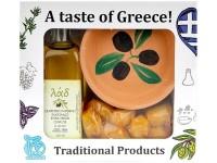 Geschenkbox 'Olivenöl-Oliven'