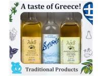 Geschenkbox 'Olivenöl-Ouzo'