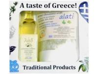 Geschenkbox 'Olivenöl-Meersalz'
