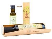 Geschenk-Holzzylinder 'Olivenöl'