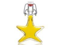 Glasflasche 'Stern' mit Olivenöl