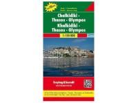 Autokarte 'Chalkidiki-Thassos'