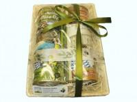 Olivenöl-Korb I mit Deko